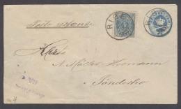 DENMARK. C.1880´s. Ribe - Sonderho. 4 Ore Blue Stat Card Adtls Cds. Fine Used. Via Nordby.. Carta, Cover, Letter, Env... - Danemark