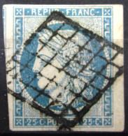 FRANCE            N° 4              OBLITERE          Léger Aminci - 1849-1850 Cérès