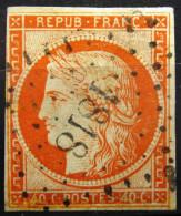 FRANCE            N° 5              OBLITERE  Petit Chiffre - 1849-1850 Cérès