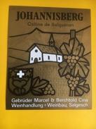 2252 - Suisse Valais Johannisberg Colline De Salquenen - Etiquettes