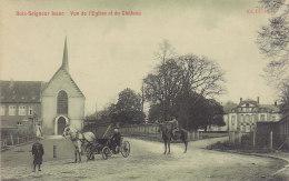 Bois-Seigneur-Isaac - Vue De L'Eglise Et Du Château (animée, Attelage, Feldpost, 1915) - Eigenbrakel