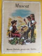 2259 - Suisse Valais Muscat Martin Dubuis Savièse - Etiquettes