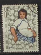 Cina 1964 Woman At Work Cotton 8 Mint And Printed - 1949 - ... Repubblica Popolare