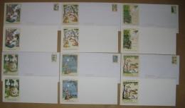 LOT DE 6 ENVELOPPES TIMBREES ILLUSTREES + CARTONS ASSORTIS LES FABLES DE LA FONTAINE  N° 2958 A 2963 - Documents De La Poste