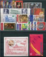 VATICANO - VATICAN - 2002 - Annata Completa - 37 Valori + 1 BF + 1 Libretto - Complete Year - ** MNH/VF - Vaticano
