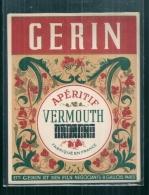 étiquette Années 20/50 -  Aperitif VERMOUTH Ets GERIN - PARIS  - - Labels