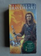 Coffret 2 Cassettes VHS - BRAVEHEART Mel GIBSON - - Action, Aventure