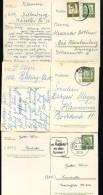 BUND P60 3 Postkarten Gebraucht Dillenburg + Rehburg + Hamburg-Bergedorf 1962-63 - BRD