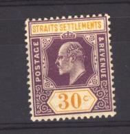 05901  -   Staits Settlements  :  Yv  129  * - Straits Settlements
