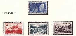 FRANCE ANNEE 1949 N° 841A/843 NEUF *** - Unused Stamps