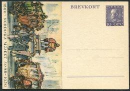 1930 Sweden Nordiska Museet 10 Ore Stationery Postcard
