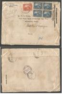 HAITI. 1921 (17 Aug) P. Prince - USA, Galveztown, Tex. Registered Pm Rate Censored Wrapper. High Rate.. Carta, Cover,... - Haití