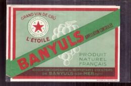 étiquette -  Années  1940/1950*  Banyuls  Association Copérative Banyuls Sur Mer - Autres