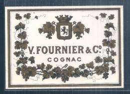 étiquette (1900/1930 ) Négociants - COGNAC - V.Fournier Et Cie - Other