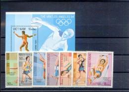 Vietnam Viet Nam MNH Perf Stamps & Souvenir Sheet 1992 : Summer Olympic Games In Los Angeles (Ms630) - Vietnam