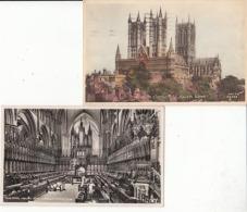 Angleterre -  - England - Lincolnshire - 2 Cartes De La Cathédrale  : Achat Immédiat - Angleterre