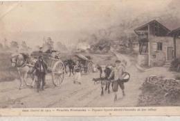 Atrocités Allemandes - Paysants Fuyant Devant L'incendie De Leurs Village  : Achat Immédiat - Oorlog 1914-18
