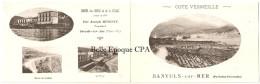 66 - BANYULS-sur-MER - Hôtel Des BAINS Et De La PLAGE - Joseph GINESTE, Propriétaire ++ 1 CARTE & 1 CARTE-DOUBLE ++ RARE - Banyuls Sur Mer