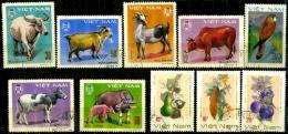 Viêt_nam 10 Timbres Oblitérés - Viêt-Nam