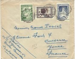 1951- Enveloppe Avec T P De L´UNESCO Pour La France - Brieven En Documenten
