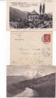 K Lot De 7 Courriers Année 1907 Avec Semeuse Camée Type II N° 135 - Marcophilie (Lettres)