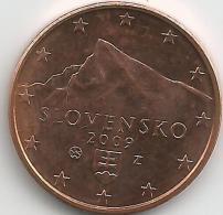 Slovaquie 5 Cents 2009 Issue De Rouleau Neuf - Slovakia