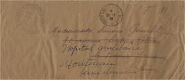 """1946- Lettre De Saïgon """" POSTE NAVALE BUREAU N°91"""" En F M + Marine Nationale * Service à La Mer * - Postmark Collection (Covers)"""