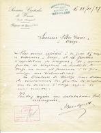 Lettre 1927 BERGILERS - RAPERIE DE BERGILERS - SUCRERIES DE WANZE ( - Belgique