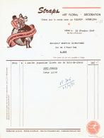 Facture 1953 LIEGE - STRAPS - Art Floral, Décoration, Fleuriste - Belgique