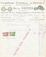 Facture Illustrée 1943 SERAING - Hector HACOURT - Opticien - Belgique