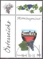 Austria Österreich 2016 Weinregionen Österreichs (V): Mittelburgenland USED / O / GESTEMPELT - 2011-... Afgestempeld