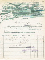Facture 1901 VERVIERS - LEON LOBET - Fabrique De Courroies En Cuir Et En Tissus - Belgique