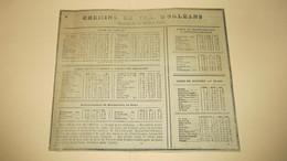 CHEMINS DE FER D'ORLEANS -  ANNEE 1897 - Europe