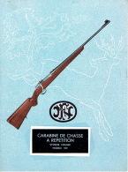 Dépliant FABRIQUE NATIONALE D'ARMES DE GUERRE HERSTAL - La Carabine De Chasse à Répétition Système MAUSER Modèle 332 - Publicités
