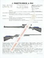Publicité + Tarif + Lettre De 4 Pages De 1961 De J. FISSETTE-DEBOR & Fils à CHERATTE - Fabricant D'armes & Munit - Advertising