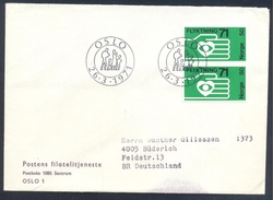 Norway 1971 Cover: 100 Years Of Refugee Aid; Flüchtlinghilfe; Aide Aux Réfugiés; Herz Heart Hand Hände - Unclassified