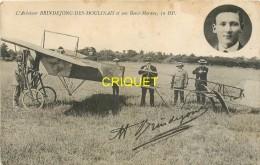 Aviation, L'aviateur Brindejonc Des Moulinais Et Son Borel-Morane, Dédicace - Aviateurs