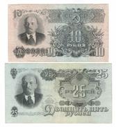 Russia // 1947 10 + 25 Rubles Condition! - Russie