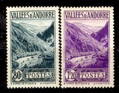 Andorra-026 - Valori Emessi Negli Anni 1937-43 (+) Hinged - Privi Di Difetti Occulti. - Neufs