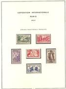 ENSEMBLE COMPLET COLONIES EXPOSITION INTERNATIONALE PARIS 1937 TIMBRES ET FEUILLETS - 1937 Exposition Internationale De Paris