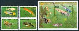 1991 Sierra Leone Pesci Fishes Fische Poissons Set + Block MNH** Sie70 - Sierra Leone (1961-...)