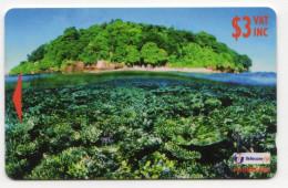 FIDJI Ref MVCARDS FIJ-134 CORAL REEF & ISLAND 3$ Date 1998 - Fidji