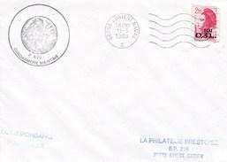 P670 BATEAU LE TRIDENT PATROUILLEUR  GENDARMERIE MARITIME LORIENT 11/5/1988 - Poststempel (Briefe)
