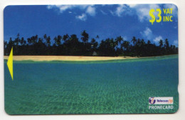 FIDJI Ref MVCARDS FIJ-135 SUN DRENCHED CRYSTAL 3$ Date 1998 - Fidji