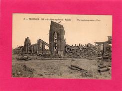 02 AISNE, TERGNIER, La Gare Régulatrice, Façade, Guerre 14-18, (Bille) - Guerre 1914-18