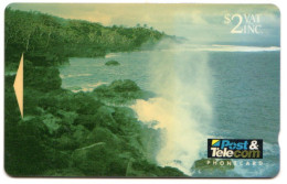 FIDJI Ref MVCARDS FIJ-020 BLOW HOLES2$ Date 1993 - Fidji
