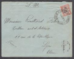 MARRUECOS - French. 1915 (5 Dec). Mirit - France, Lyon (8 Dec). FM Postes Aux Armes. Fkd Env 10c With Superb Strike C... - Morocco (1956-...)