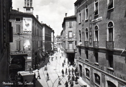 MODENA - VIa  EMILIA - Manifesto Murale  STOCK - VIAGGIATA - Modena