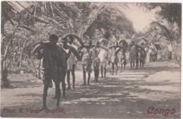CONGO   - ( Afrique ) - TRANSPORT D'IVOIRE Pas Des Humains - Dévance D'éléphants - Kongo - Brazzaville