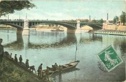93 SAINT DENIS. Le Pont Et Scaphandrier 1908 - Saint Denis